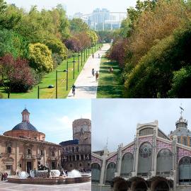 Visitando Valencia sin transporte
